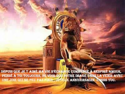 10 texte2Banniversaire - CARTE ASTROLOGIQUE LION