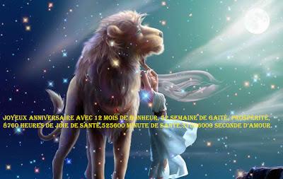12 texte2Banniversaire - CARTE ASTROLOGIQUE LION