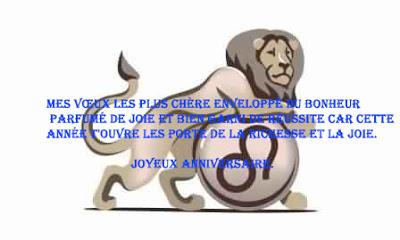 13 texte2Banniversaire - CARTE ASTROLOGIQUE LION