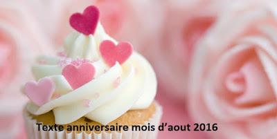 14 texte2Banniversaire - TEXTE ANNIVERSAIRE MOIS  D'AOUT 2020