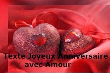 151 texteanniversaire - TEXTE JOYEUX ANNIVERSAIRE AVEC AMOUR