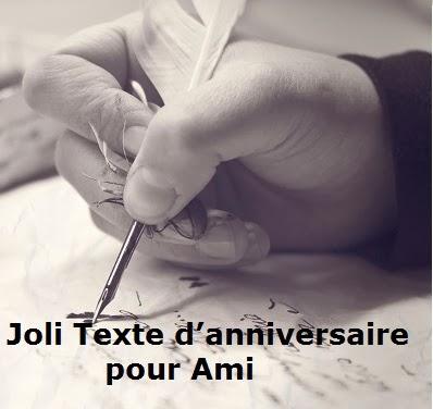 Joli Texte Danniversaire Pour Ami Texte Message Et Poème