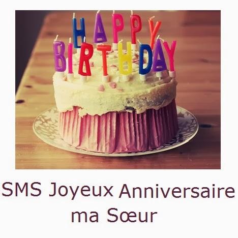 164 texteanniversaire - SMS JOYEUX ANNIVERSAIRE MA SOEUR