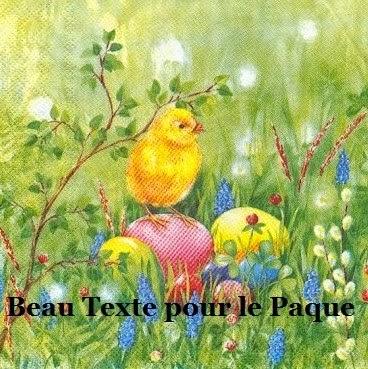 174 texteanniversaire - BEAU TEXTE POUR LA FETE DE PAQUES