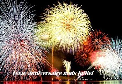 21 texte2Banniversaire - TEXTE ANNIVERSAIRE MOIS JUILLET