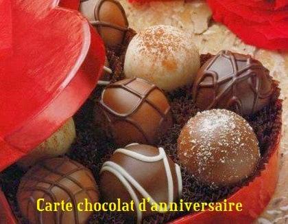 258 texteanniversaire - CARTE CHOCOLAT D'ANNIVERSAIRE