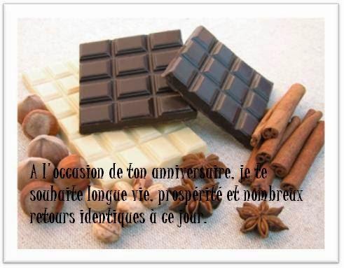259 texteanniversaire - CARTE CHOCOLAT D'ANNIVERSAIRE