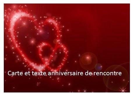 261 texteanniversaire - CARTE ET TEXTE ANNIVERSAIRE DE RENCONTRE