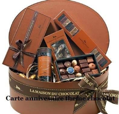 262 texteanniversaire - CARTE CHOCOLAT D'ANNIVERSAIRE