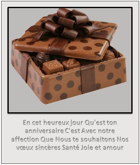 267 texteanniversaire - CARTE CHOCOLAT D'ANNIVERSAIRE