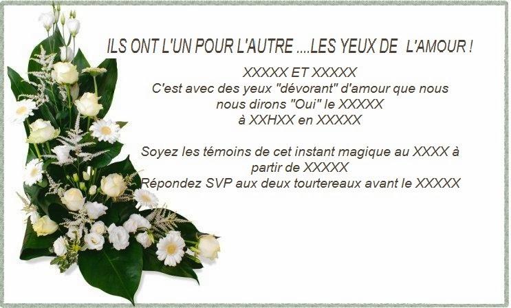 277 texteanniversaire - CARTE ET TEXTE INVITATION MARIAGE