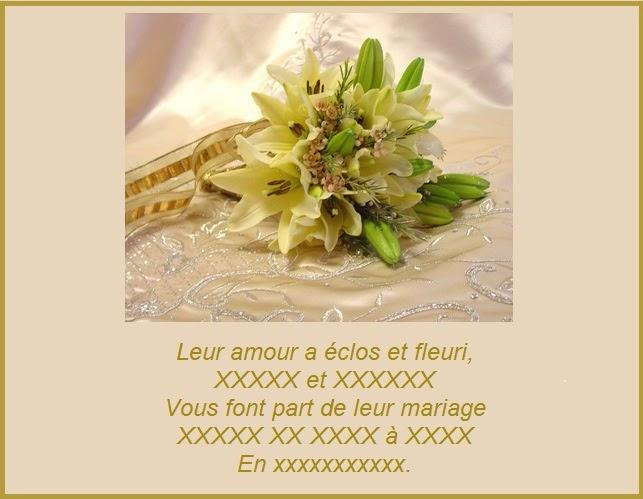 279 texteanniversaire - CARTE ET TEXTE INVITATION MARIAGE