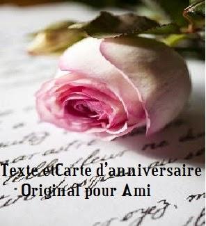 291 texteanniversaire - TEXTE ET CARTE D'ANNIVERSAIRE ORIGINAL POUR AMI