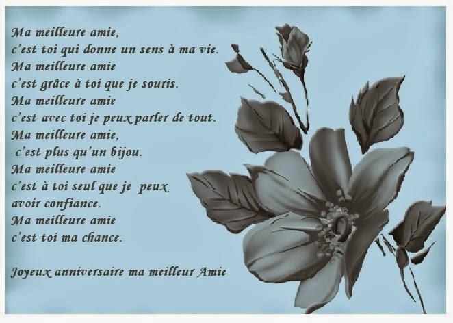 Carte Et Poeme Anniversaire Amie Texte Message Et Poème D