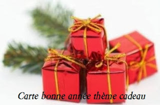 341 texteanniversaire - CARTE BONNE ANNEE THEME CADEAU