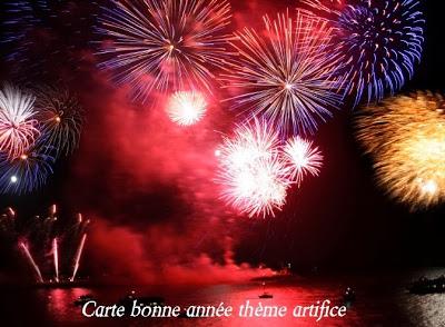 347 texteanniversaire - CARTE BONNE ANNEE THEME FEUX ARTIFICE