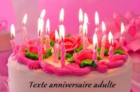 351 texte2Banniversaire - TEXTE ANNIVERSAIRE ADULTE