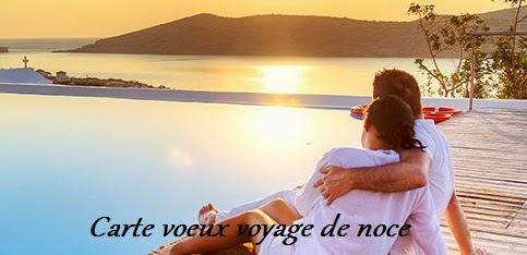 354 texte2Banniversaire - CARTE VOEUX VOYAGE DE NOCE