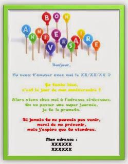 412 texteanniversaire - CARTE INVITATION ANNIVERSAIRE GARCON