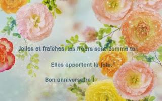 538 texteanniversaire - CARTE ANNIVERSAIRE THEME FLEUR