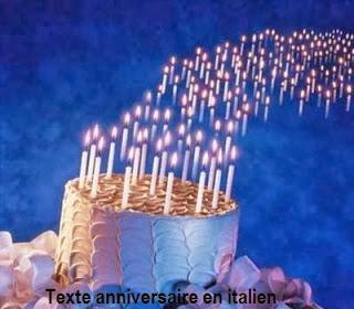 683 texteanniversaire - TEXTE ANNIVERSAIRE EN ITALIEN