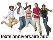 732 texteanniversaire - TEXTE ANNIVERSAIRE ADO/ADOLESCENTE