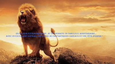 7 texte2Banniversaire - CARTE ASTROLOGIQUE LION