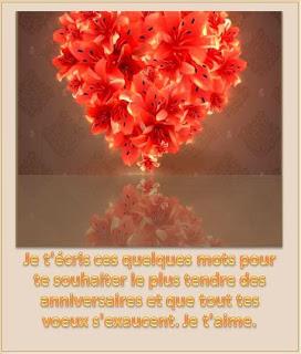 800 texteanniversaire - CARTE ANNIVERSAIRE ROMANTIQUE