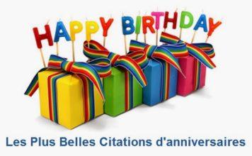 LES PLUS BELLES CITATIONS D'ANNIVERSAIRES