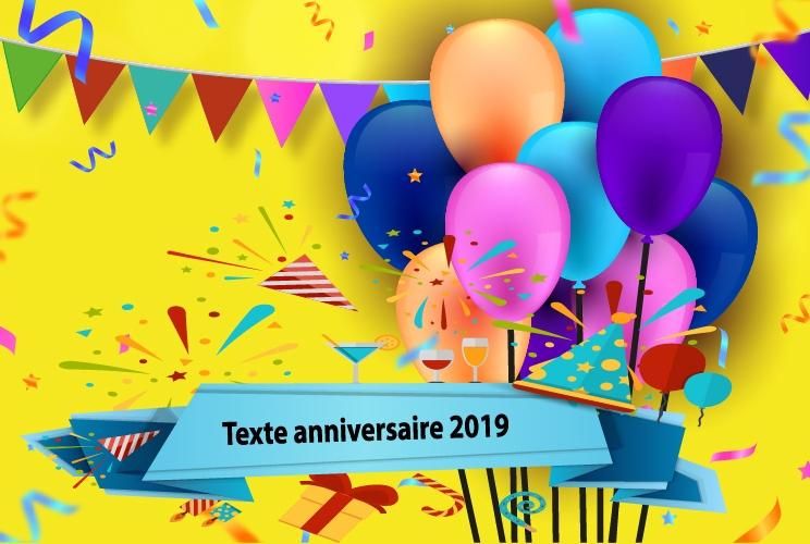 texte danniversaire 1 - Texte anniversaire 2019