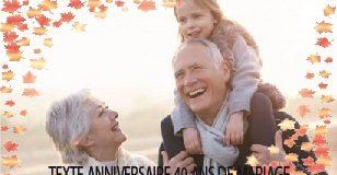 TEXTE ANNIVERSAIRE 40 ANS DE MARIAGE