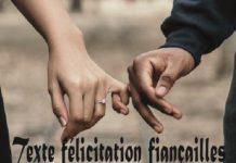 Texte félicitation fiançailles