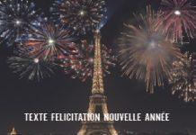 TEXTE FELICITATION NOUVELLE ANNÉE