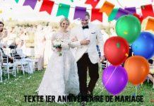 TEXTE  1ER ANNIVERSAIRE DE MARIAGE