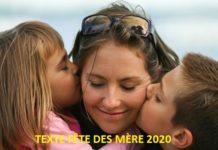 TEXTE FÊTE DES MÈRE 2020