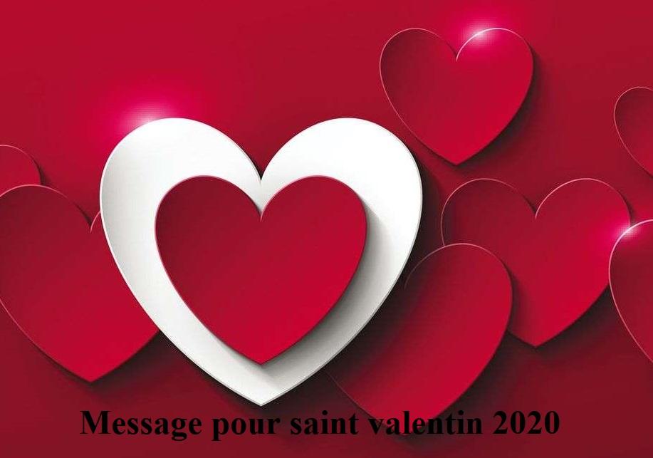 texte danniversair - Message pour saint valentin 2020