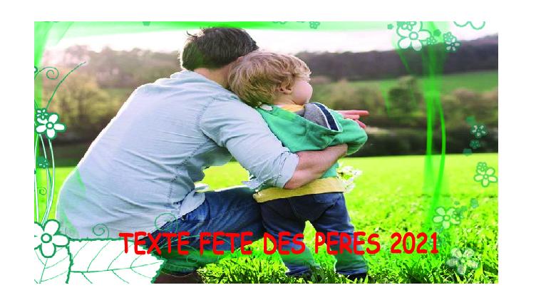 texte anniveraire - TEXTE FETE DES PERES 2021